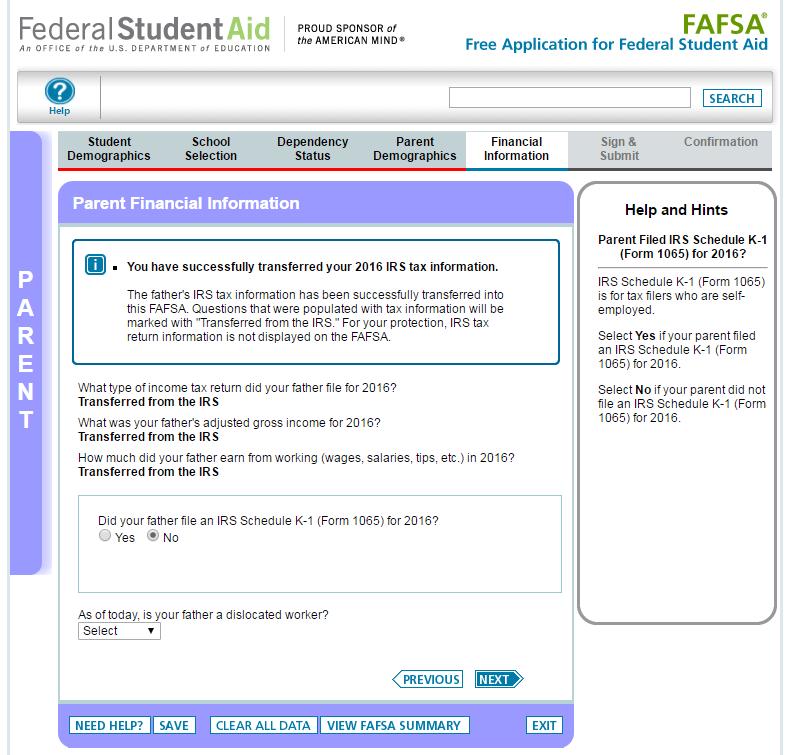 Irs Data Retrieval Tool For Fafsa Irs Data Retrieval Tool Step By